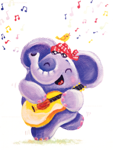 Guitar Player - Rondy the Elephant