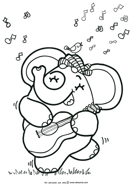Guitar player coloring page oksancia preview