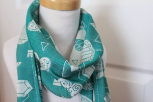 Legend Of Zelda inspired textile repeating pattern design for Cari Slings babywearing wraps