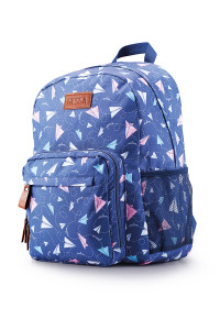 Backpack featuring Paper Airplanes print vector repeating pattern design I created for Hessa bags Peace line of bags.