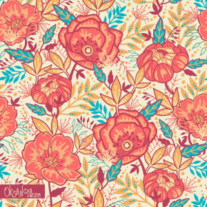 Bright Garden - seamless pattern design by Oksancia