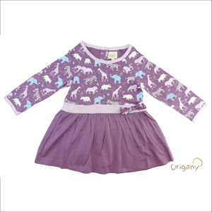 Origany animal safari print kids tunic with textile design by Oksancia