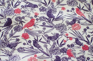 Birds and flowers fabric desing for Origany kids clothing line - seamless pattern by Oksancia