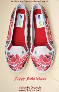 Poppy keds shoes - design by Oksancia