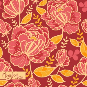 Beautiful Garden - seamless pattern design by Oksancia