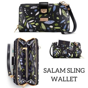 Salam sling wallet by Hessa Bags with my repeating pattern design
