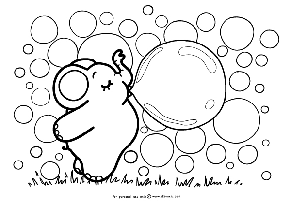 m bubble printable coloring pages - photo #18