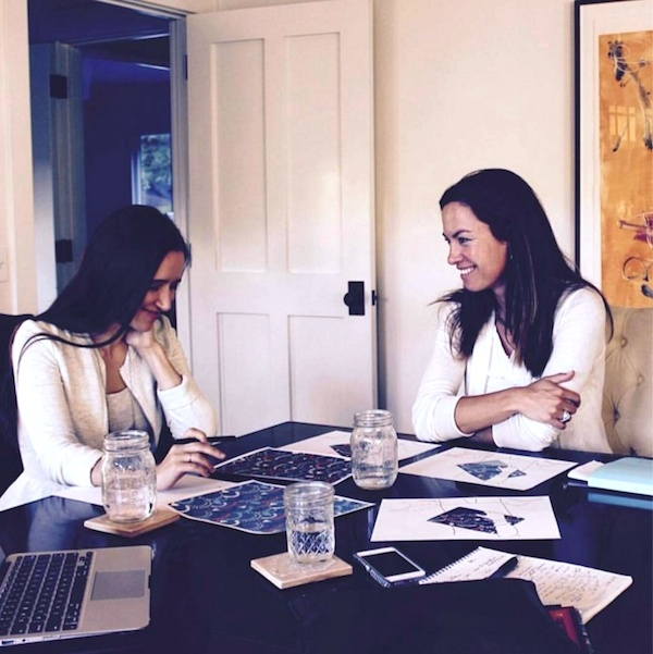 Oksancia (left) meeting with Ilse W. and Paksy P.C. for Impact Mania textile design repeating pattern project.