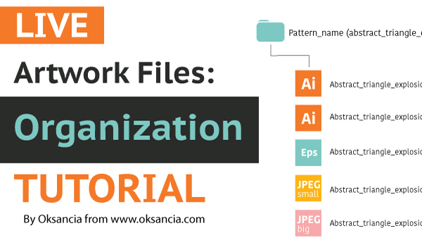 How To Organize Repeat Pattern Files Or Other Artwork On Your Computer - Guide by Oksancia