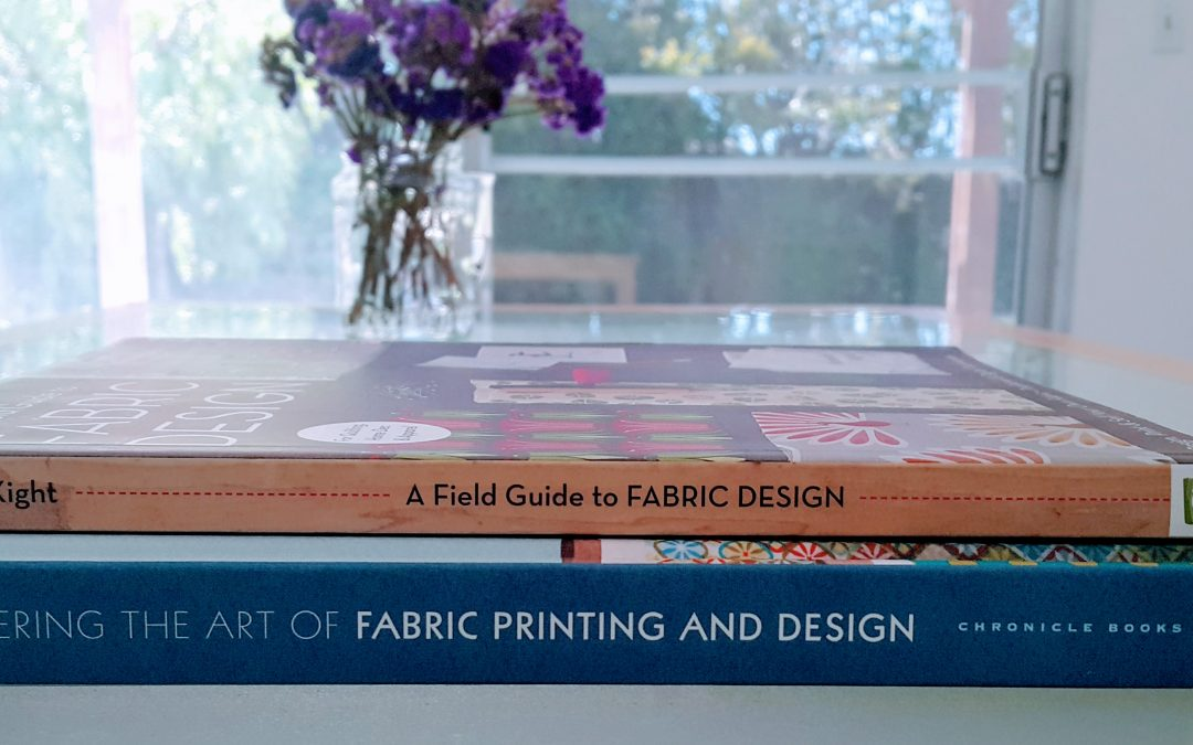 Textile design books that helped me with building my creative business.