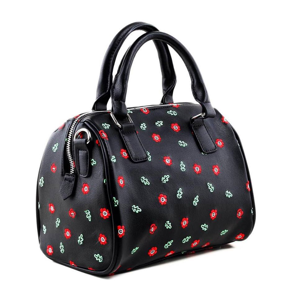 Poppy pattern embroidered bag by Hessa Bags.