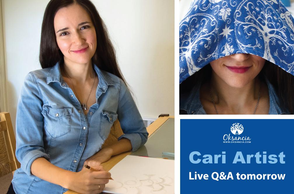 Cari Slings Textile Repeat Pattern Designer Oksancia announces a live Q&A video
