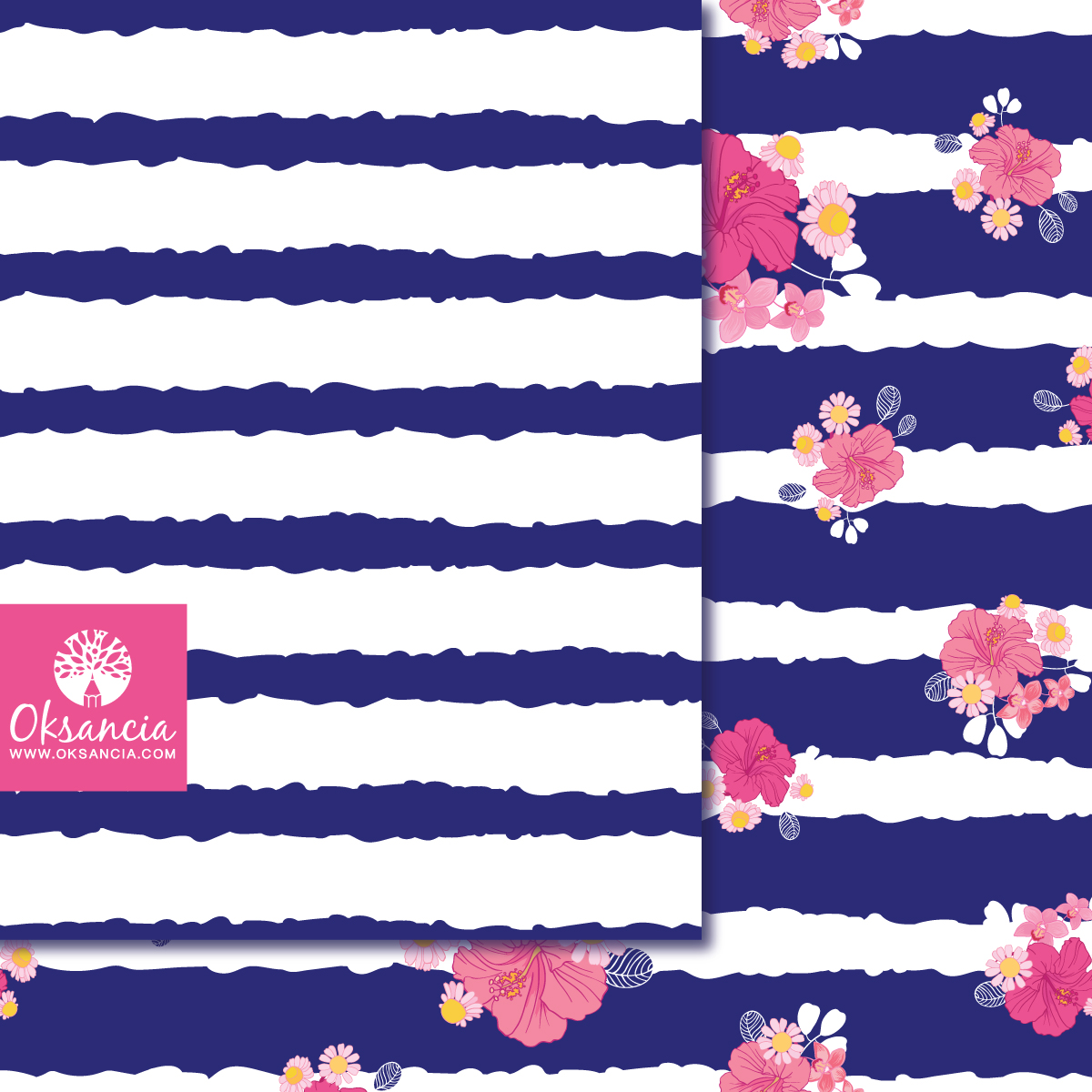 How to quickly create vector rough striped seamless pattern in Adobe