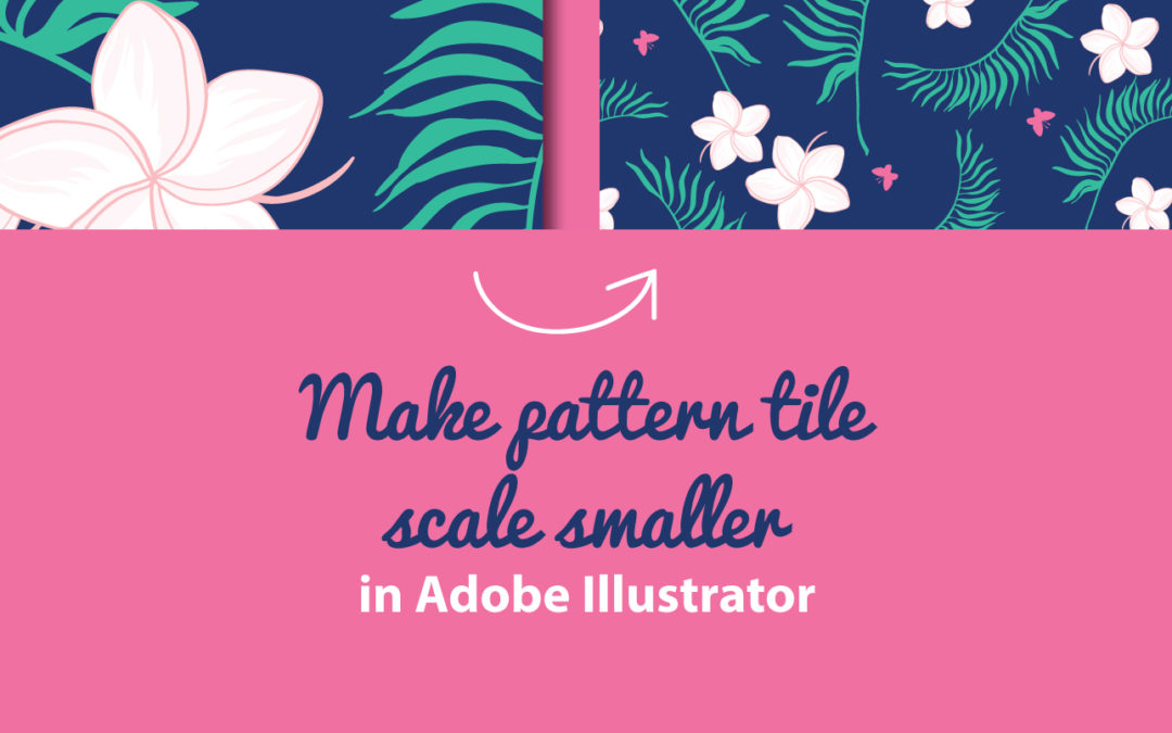 How to make the scale of a vector repeat pattern tile